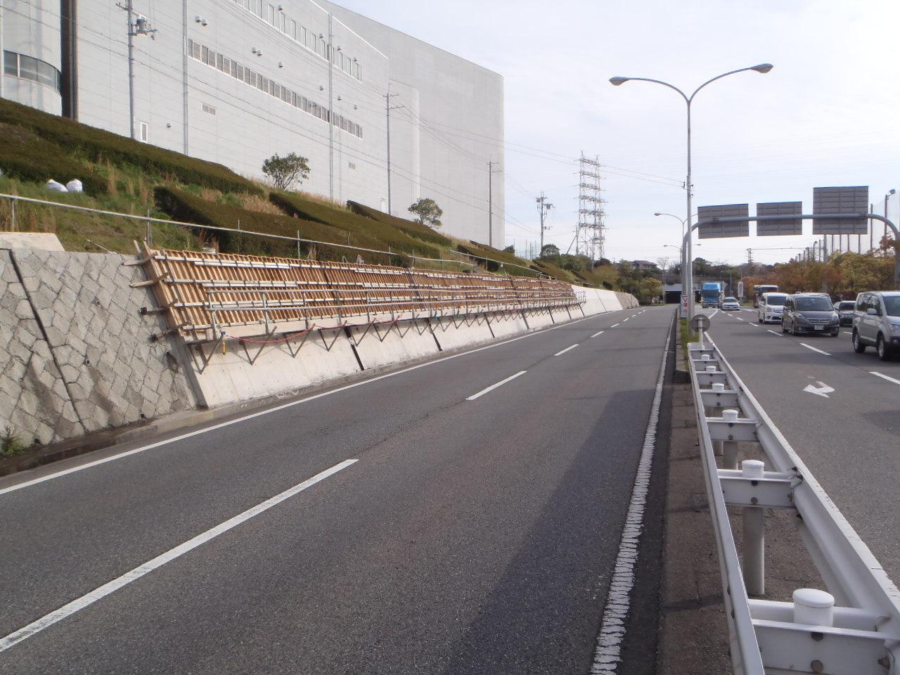 弥栄台:道路工事01
